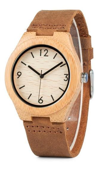 Relógio Unissex Bambu Madeira Anal. Bobo Bird A44 + Promoção