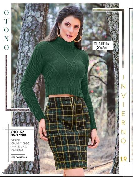 Sweater Verde Mod. 210-57 Oi 2019