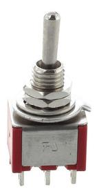 Chave Mini Toggle Seletora On / On - 6 Polos - Spirit