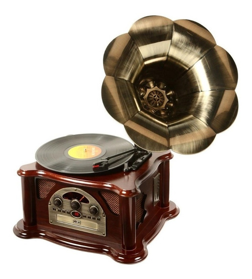 Gramofone 10w, Mp3, Usb, Cd, Rádio E Vinil Ribeiro E Pavani
