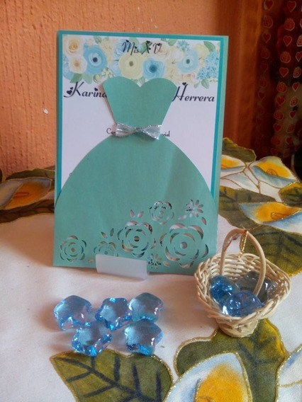 Invitación De Xv , Elegantes Y Economicas Vestido