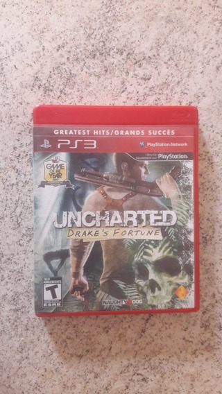 Jogo Uncharted Drake S Fortune Ps3 Midia Fisica