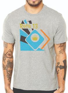 Camiseta Camisa Masculina Algodão Gola Redonda Estampada R10