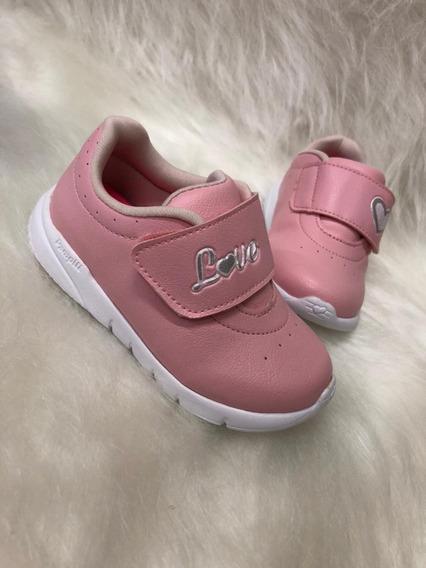 Tênis Pampili Infantil Sweent Rosa Glace 445.003