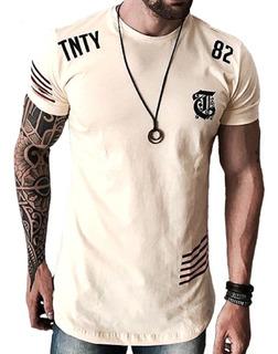 Camiseta Oversized Camisa Swag Masculina Longline Floral Top