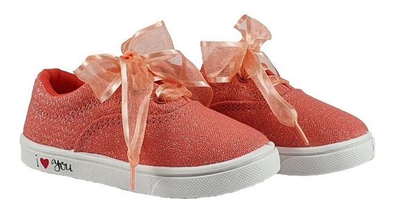 Zapatillas Urbanas De Nena Con Glitter Y Brillos De 17 Al 29