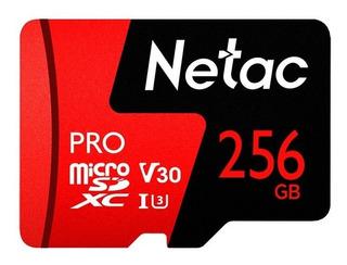 Cartão De Memória Micro Sd Netac 256gb U3 Pro P Gopro Switch