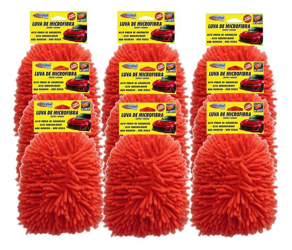 Kit 9 Luva De Microfibra Para Limpeza E Lavagem Uso Geral