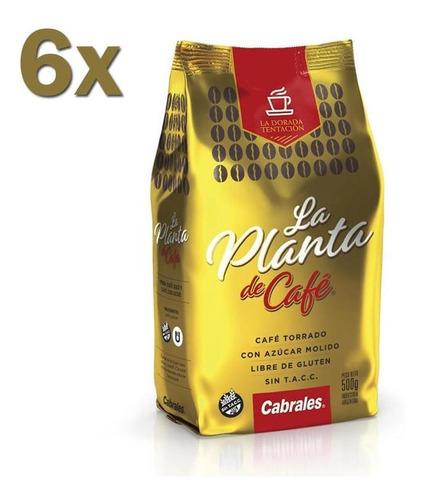 6x Cafe Molido Cabrales La Planta 500gr 3kg Torrado