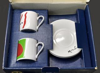 Tazas Café Fundación Miró Barcelona Set Para 2 Envío Gratis