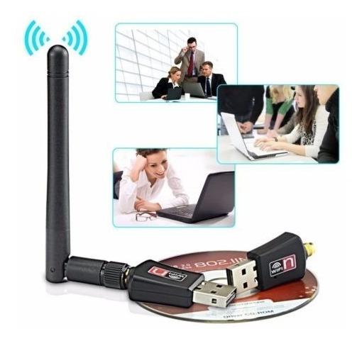 Placa De Red Usb Wifi Mini 150mbps Con Antena Adaptador Red