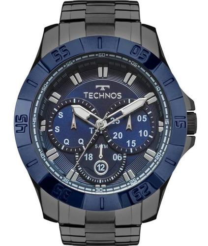 Relógio Technos Masculino Skymaster Grafite 6p79be/4c + Nota