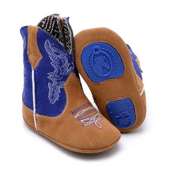 Bota Texana Infantil Baby Kids Country Cano Médio Bordado