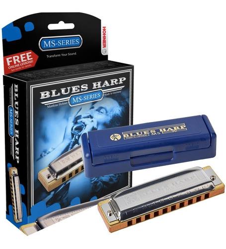 Armonica Hohner Blues Harp Blusera Profesional Estuche Envio