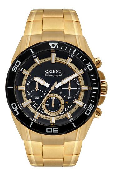 Relógio Orient Mgssc029 Dourado Original Mostrador Preto