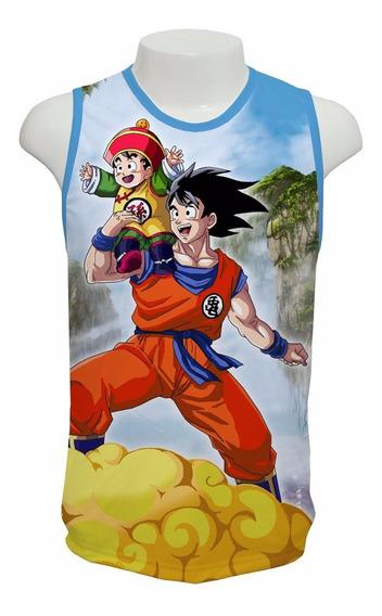 Camiseta Anime Dragon Ball Z Son Goku Mod 03 - Regata