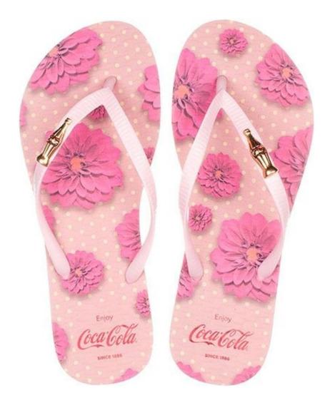Chinelo Coca Cola Feminina Flower Spirit