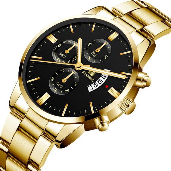 Relógio Dourado Olmeca Shaarms