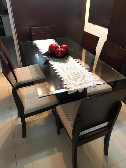 1-mesa, 6-cadeiras, 1-aparador, 1-mesa De Centro.