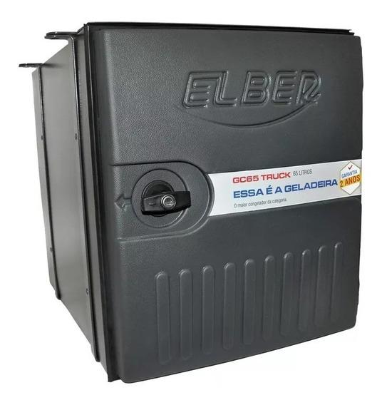 Geladeira Para Caminhão Elber Gc65 + Kit Suporte Instalação