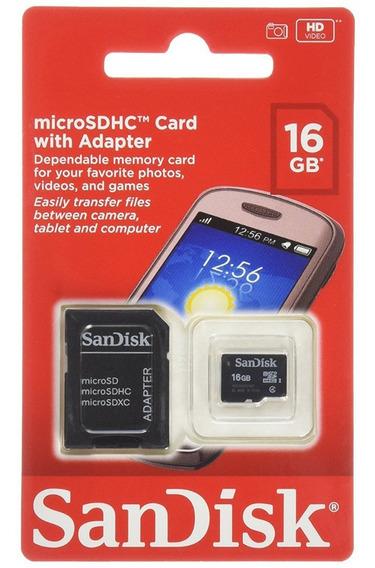Cartão De Memoria 16 Gb Microsd Microsdhc Sandisk - Jl-03