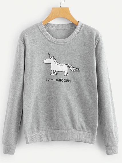 Sudadera Estampado Unicornio
