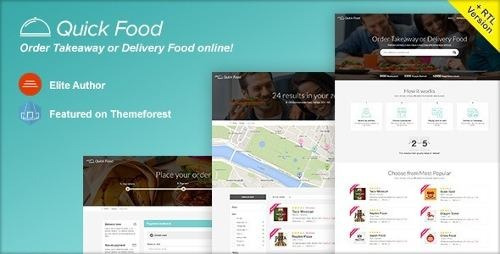 Quickfood - Delivery Or Takeaway Food Template Html