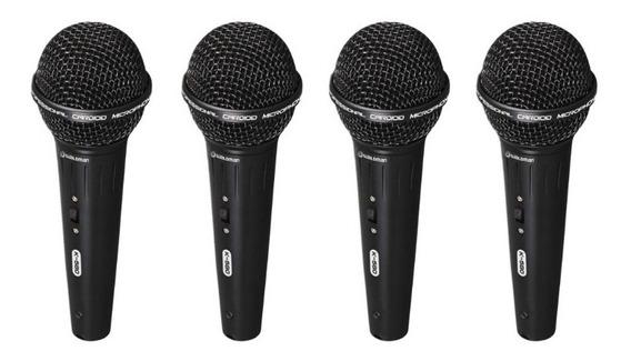 Kit 4 Microfones Waldman Karaoke K580 Cachimbo +cabo +estojo