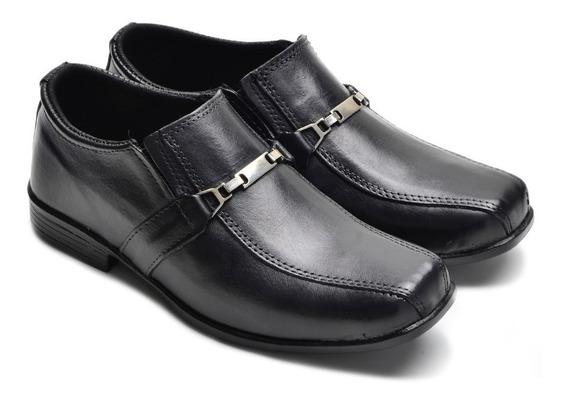 Calçado Infantil De Couro Sapato Para Crianças +1carteira