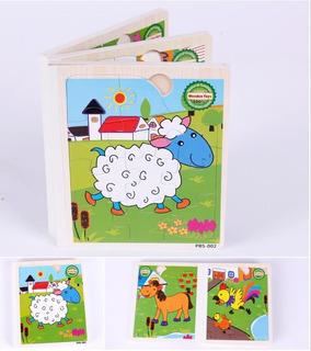 Libro Rompecabezas Juegos Didácticos Niños Madera Montessori