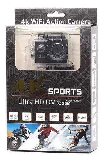 Câmera Action Go Cam Pro Ultra 4k Sport Wifi Hd Prova Dágua+ Cartão De Memória 16g