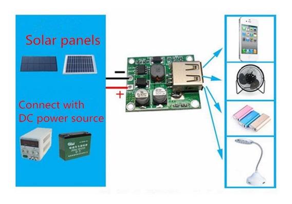Controlador De Carga Usb 2 Amp Para Placa Solar