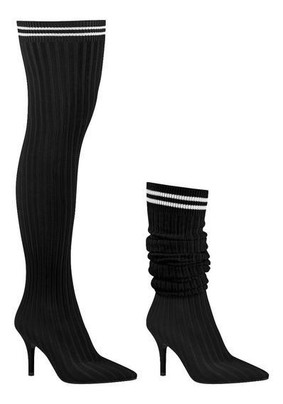 Sock Boot Vizzano Preta 3061-102