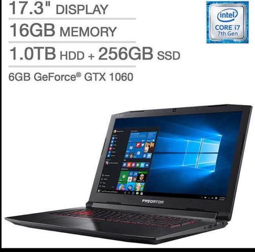 Acer Predator Helios 300 17,3 I7-7700hq 1tb+128gb Gtx 1060