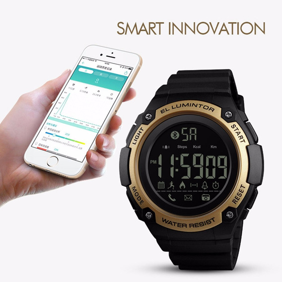 Skmei Mens Smart Watch Sports Digital Resin 50 Meter Waterpr