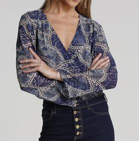 Camisa Feminina Transpassada Mullet Tamanho 36