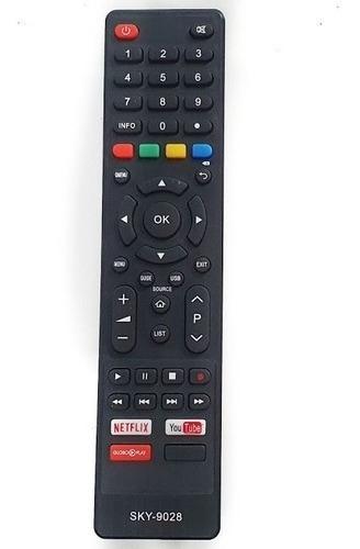 Controle P/ Tv Philco Com Tecla Netlix / Youtube Globoplay /