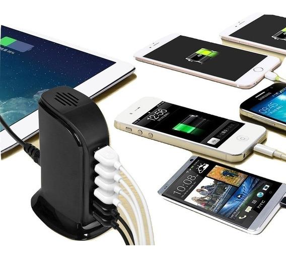 Hanker Cargador Multiple Usb 6 Puertos Carga Rapida 2.1 A Para Cargar Control De Videojuegos, Smartphones, Tablets Y Más