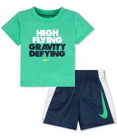 Conjunto Nike Infantil Menino 2 Pcs Regata E Shorts Original