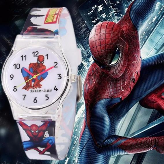 Relógio Homem Aranha Spiderman Infantil Criança Pulseira Lux