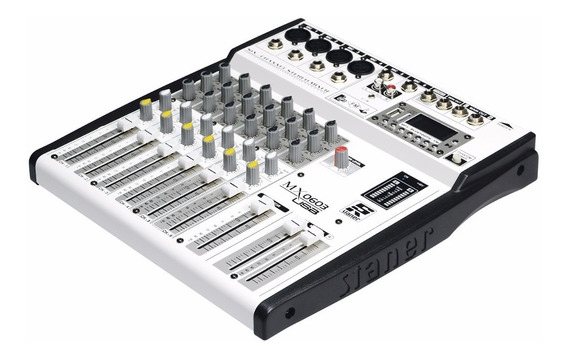 Mesa De Som Staner Mx0603 Usb Mixer 6 Canais Bluetooth