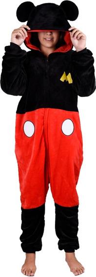 Pijama Enterito Piñata Disney Mickey Black Mameloocos Manias