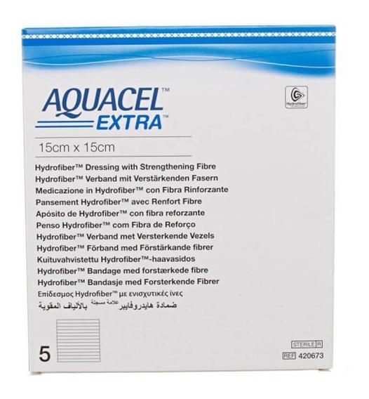 Curativo Aquacel Extra Hidrofibra 15x15 Cm Convatec 420673