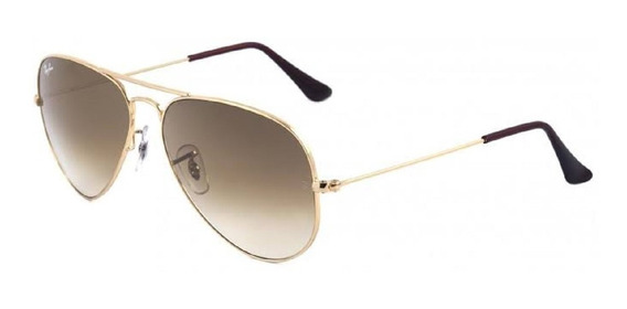 Ray-ban Aviador Rb3025 Dourado Com Marrom Degrade Original