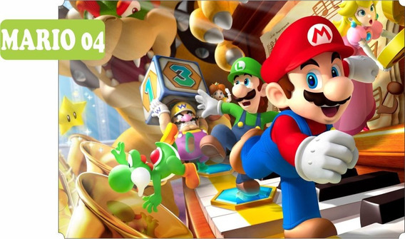 Adesivo Papel De Parede Super Mario Bross Luiggi 1,00 X 1,50