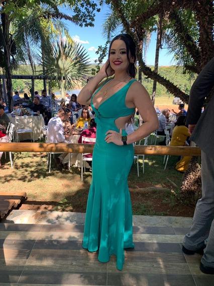 Vestido De Festa Na Cor Verde Tiffany