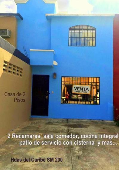 Casa En Venta Cancun, Sm 200 Haciendas Del Caribe