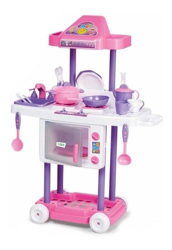 Cozinha Infantil Calesita Riva Chef Com Pia Micro-ondas