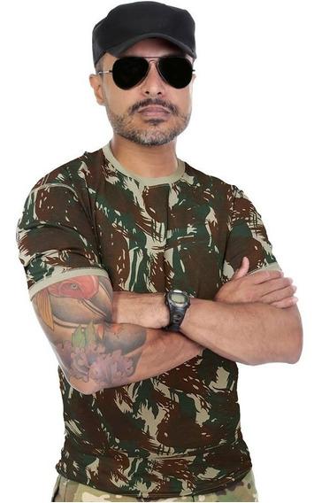 Camiseta Militar Original Exercito Brasileiro Camuflada