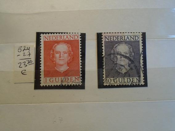 Estampillas Holanda. 2 Sellos De 1949. 20% Off !